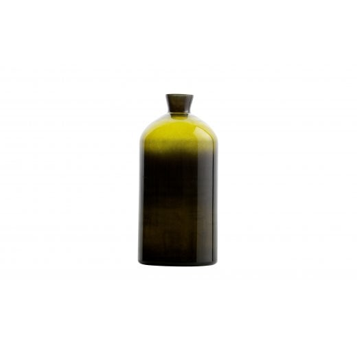 Danish Collection Extra Large Chemistry Glass Vase - Olive