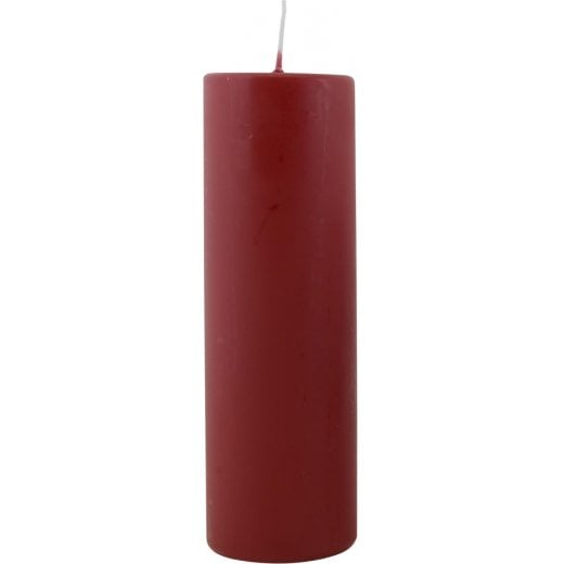 Danish Collection Extra Large Plain Candle - Dark Red