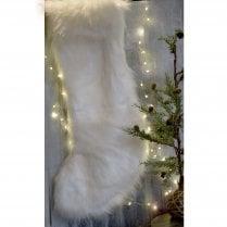 Danish Collection Extra Large Xmas Stocking - White