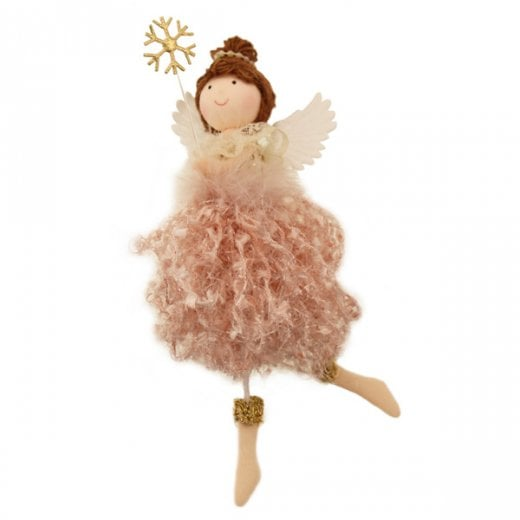 Danish Collection Fabric Hanging Angel - Pink