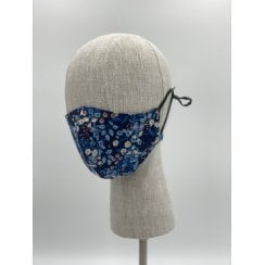 Danish Collection Face Mask - Blue Small Flowers