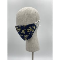 Danish Collection Face Mask - Dark Blue/Gold