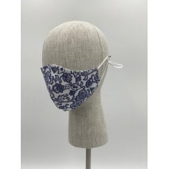 Danish Collection Face Mask - Dark Blue/White