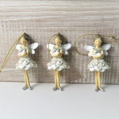 Danish Collection Fairy Decoration with Rabbit - Silver