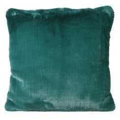 Danish Collection Faux Fur Cushion Cover - Bottle Green