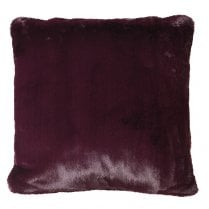 Danish Collection Faux Fur Cushion Cover - Wine