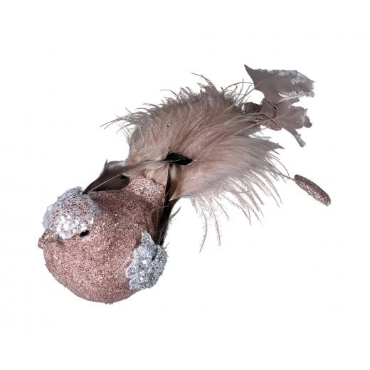 Danish Collection Feather Tail Bird - Champagne