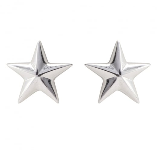 Danish Collection Five Point Star Silver Stud Earrings