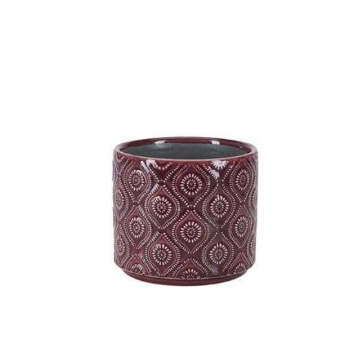 Danish Collection Flowerpot with Circle Pattern - Purple
