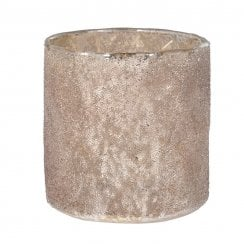 Danish Collection Frosted Candle Holder - Bronze