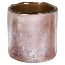 Danish Collection Frosted Grey-Pink Candle Holder