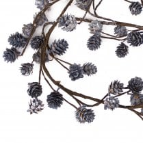 Danish Collection Garland With Cones L125cm Blue