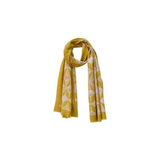 Danish Collection Geometric Print Super Soft Scarf - Mustard