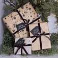 Danish Collection Gift Tags Black With Silver - 5pcs