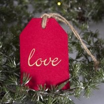 Danish Collection Gift Tags Red With LOVE - 5pcs