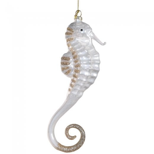 Danish Collection Glass Hanging Seahorse