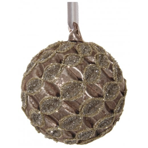 Danish Collection Glass Lined Bauble - Brown