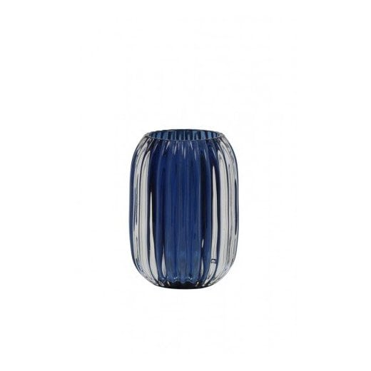 Danish Collection Glass Pertu Candle Holder - Blue