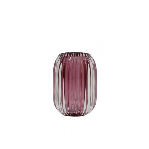 Danish Collection Glass Pertu Candle Holder - Purple