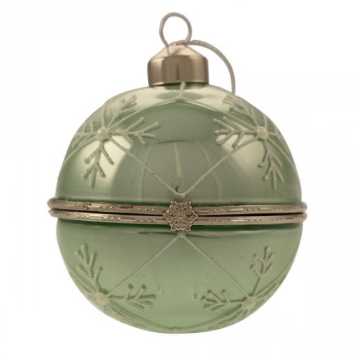 Danish Collection Glass Trinket Bauble - Green
