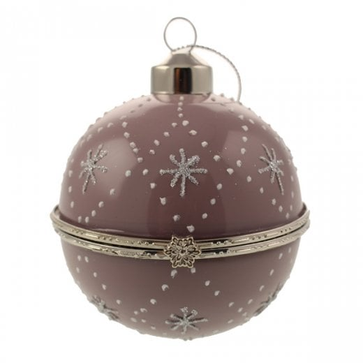 Danish Collection Glass Trinket Bauble - Purple