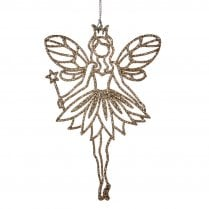 Danish Collection Glitter Fairy Ornament - Champagne