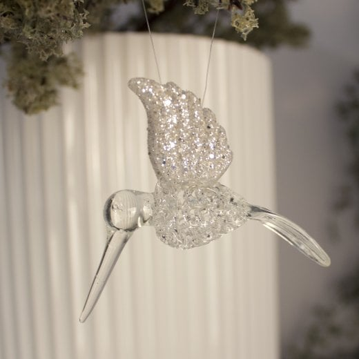 Danish Collection Glitter Hummingbird - Glass