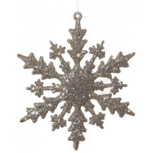 Danish Collection Glitter Snowflake - Champagne