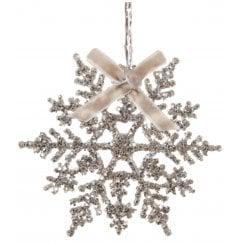 Danish Collection Glitter Snowflake - Silver