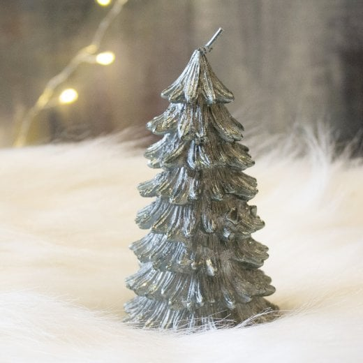 Danish Collection Glitter Wax Tree  Candle- Green