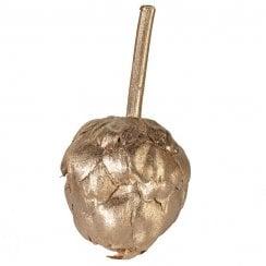 Danish Collection Glittered Artichoke Pick - Gold