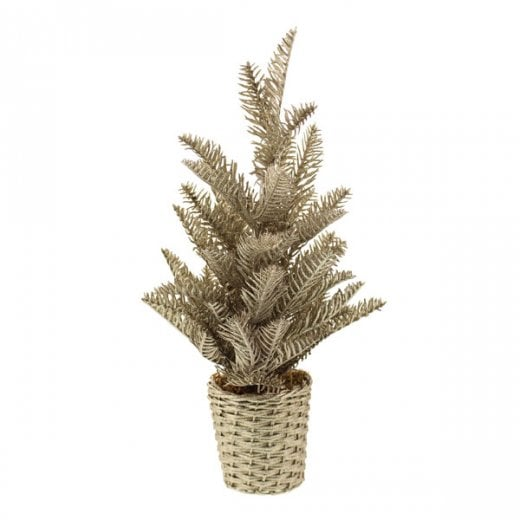 Danish Collection Glittered Noble Fir Tree - Champagne