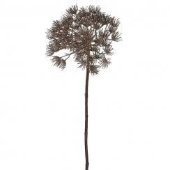 Danish Collection Glittery Allium Branch - Gold