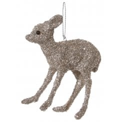 Danish Collection Glittery Antique Bambi - Silver