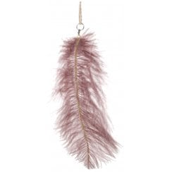 Danish Collection Glittery Ostrich Feather - Purple