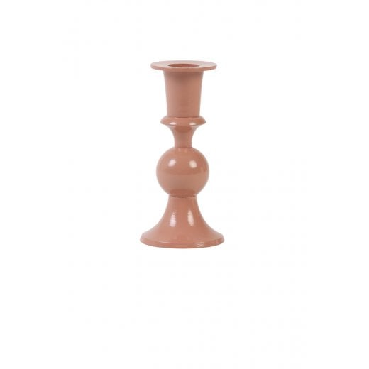 Danish Collection Gloss Finish Candle Holder - Old Pink