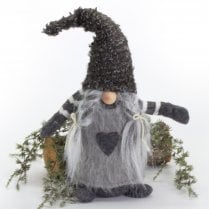 Danish Collection Gnome Girl With Plaits - Grey H38cm