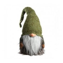 Danish Collection Gnome With Green Hat - Green/Grey H50CM