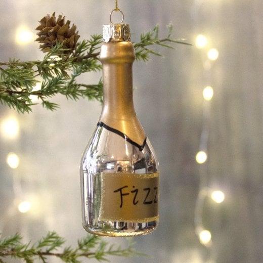 Danish Collection Gold Fizz Bottle Bauble