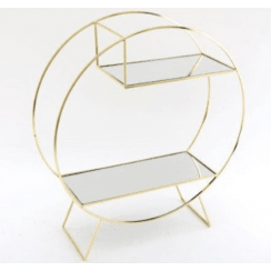 Danish Collection Gold Mirrored Shelf - D47cm
