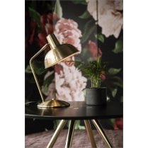 Danish Collection Gold Plated Hood Table Lamp