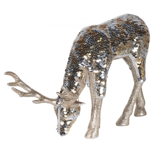 Danish Collection Gold Sequin Grazing Deer