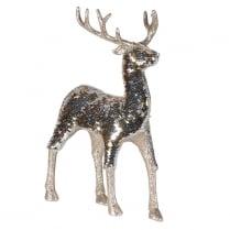Danish Collection Gold Standing Sequin Deer