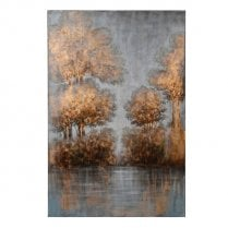 Danish Collection Golden Trees Canvas - H152cm - Local Delivery Only