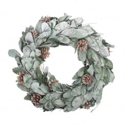 Danish Collection Green Glitter Wreath