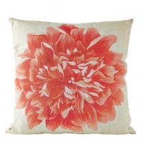 Danish Collection Grey & Pink Rose Design Cushion