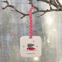 Danish Collection Hanging Christmas Decoration - Coming Home