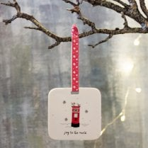 Danish Collection Hanging Christmas Decoration - Postbox