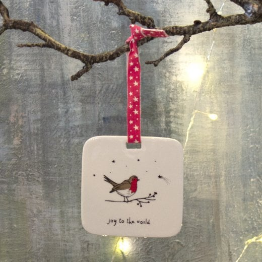 Danish Collection Hanging Christmas Decoration - Robin