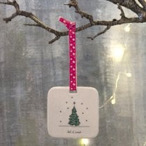 Danish Collection Hanging Christmas Decoration - Tree